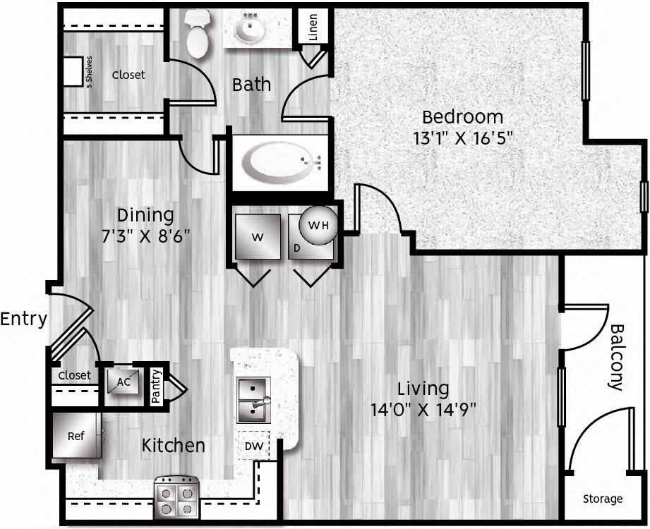 A2-LA Floor Plan 3