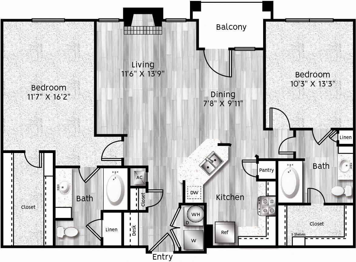 B3-LA Floor Plan 24
