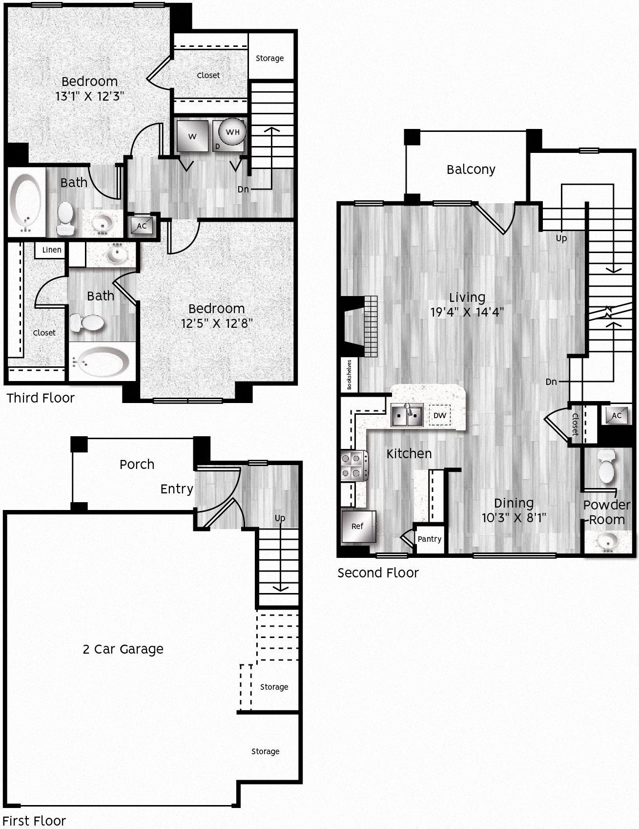 B4-LA 2 GARAGE Floor Plan 28