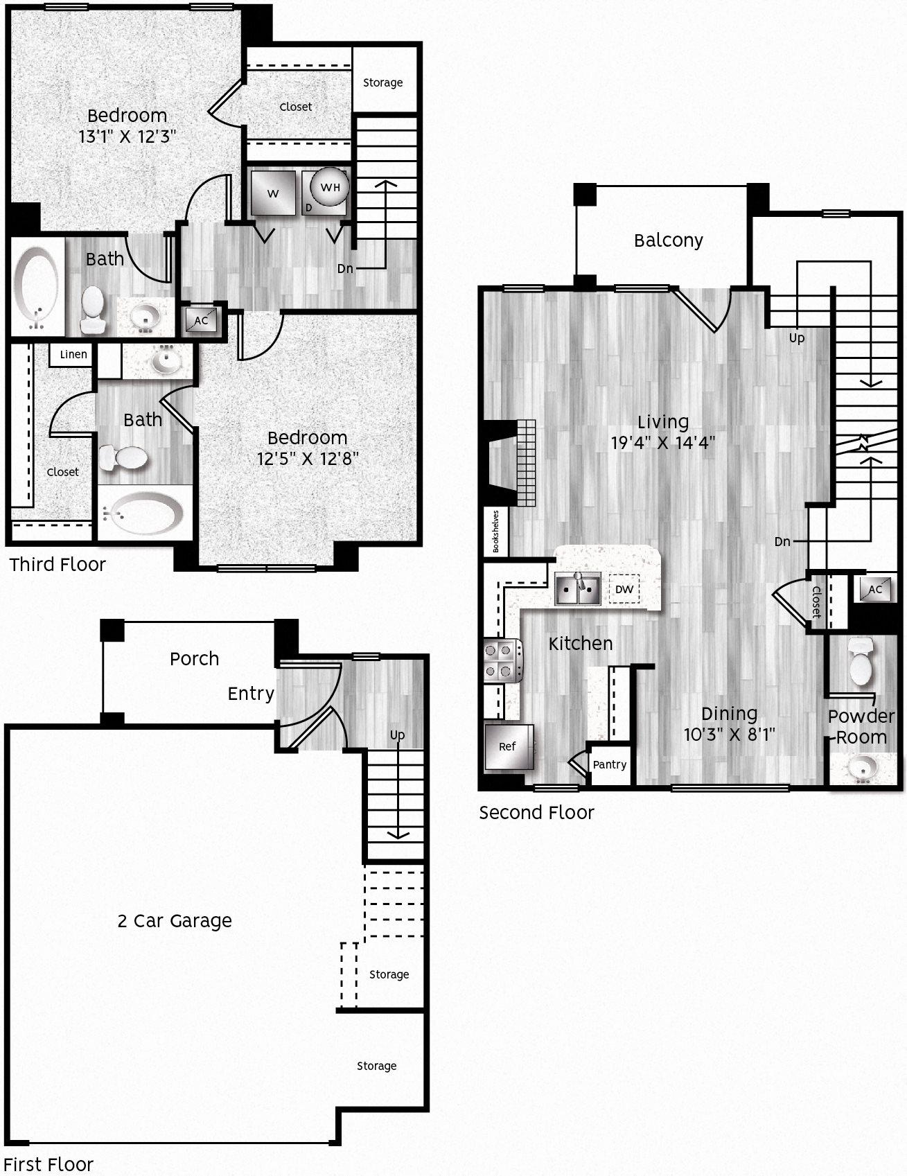 B4-LL 2 GARAGE Floor Plan 29