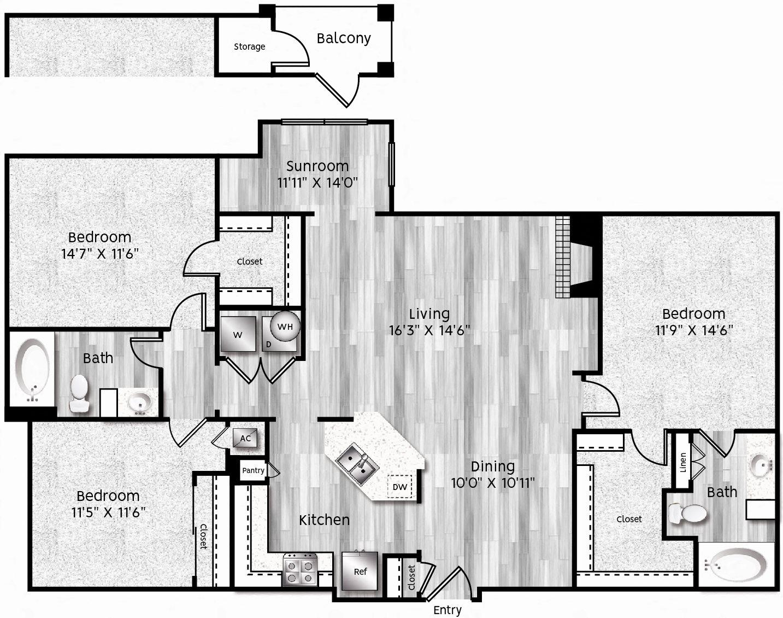 C1-LL Floor Plan 33