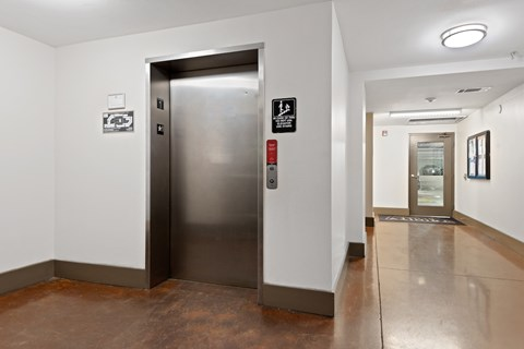 Wide hallways and elevators for easy move-ins.