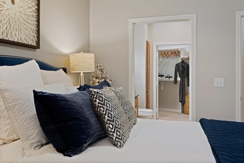 Large bedrooms with attached bathrooms and closets.