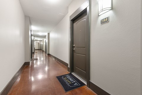 Spacious climate controlled hallways.
