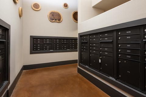 Resident mail room.