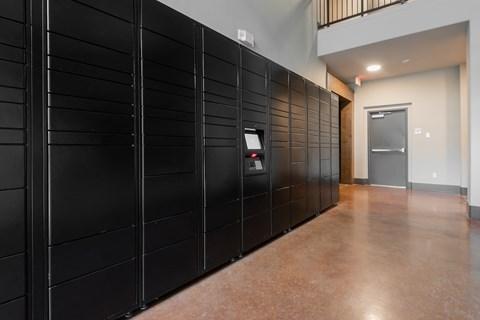 24 Hour access parcel lockers.