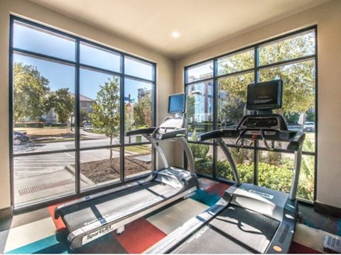 24/7 fitness center two treadmills.