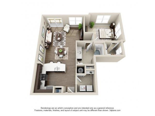 The Lillington Floor Plan at Elizabeth Square Apartments in Charlotte, NC