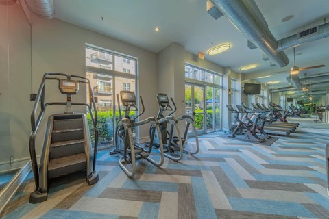 State-Of-The-Art Gym And Spin Studio at Elizabeth Square, Charlotte, NC, 28204