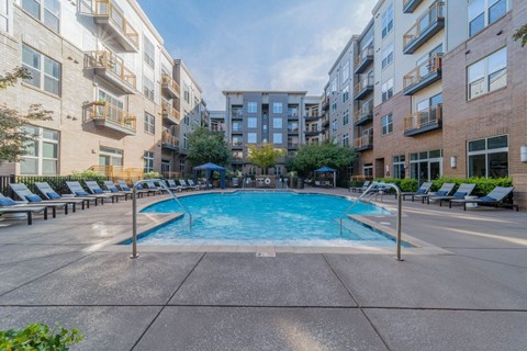 Swimming Pool With Relaxing Sundecks at Elizabeth Square, Charlotte