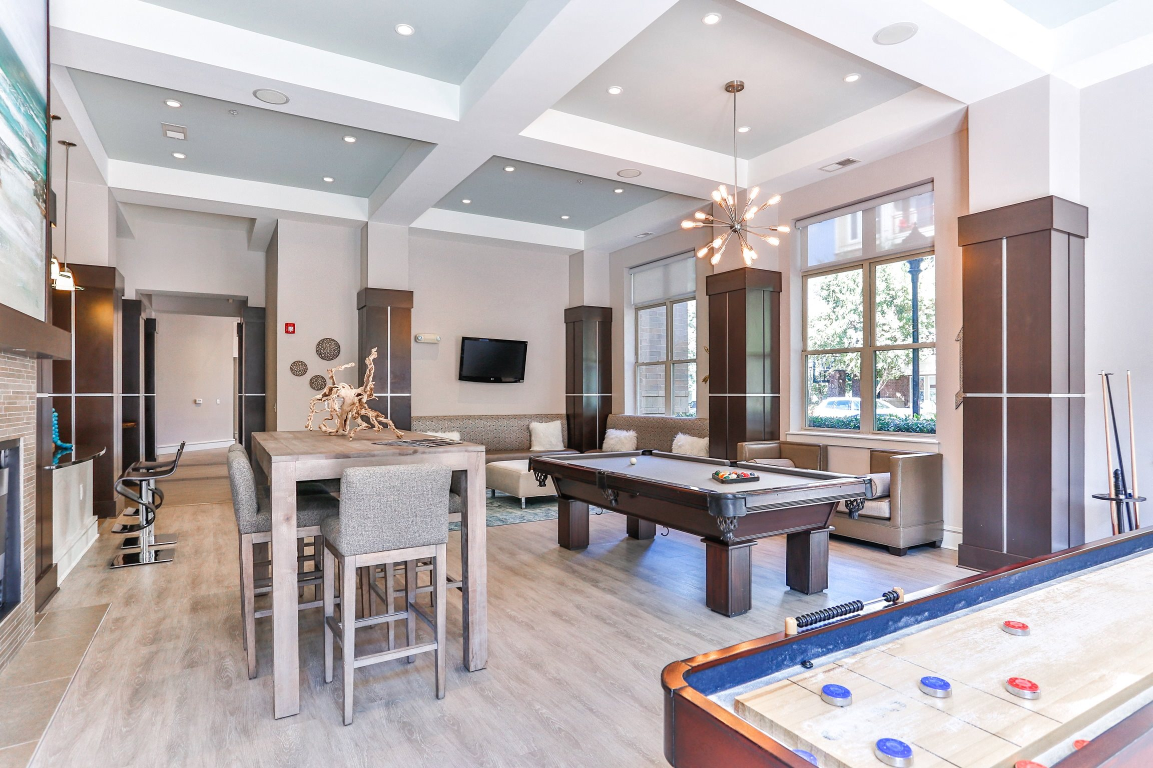 Game Room at Elizabeth Square Apartments in Charlotte, NC