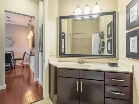 Bathroom Lighting at Elizabeth Square Apartments in Charlotte, NC