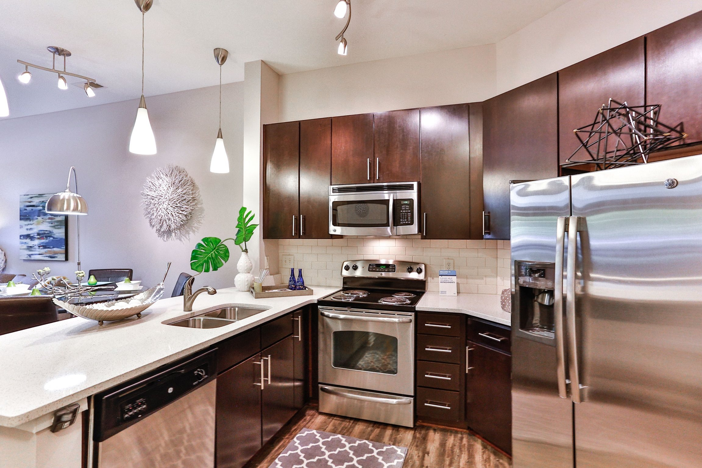 Fully-Equipped Kitchen at Elizabeth Square Apartments in Charlotte, NC