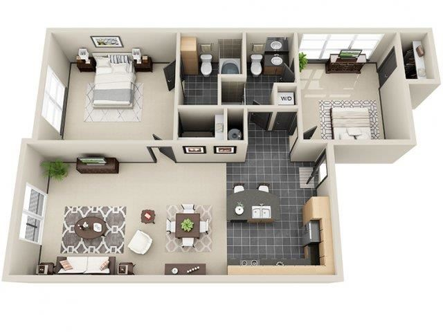 Luminance 2 Bed 2 Bath at Mosaic South End Apartments in Charlotte, NC