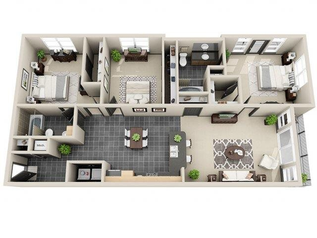 Millennia 3 Bed 2 Bath at Mosaic South End Apartments in Charlotte, NC