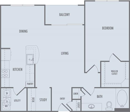 A4 Floor Plan at Domain at CityCentre Apartments in Houston, Texas