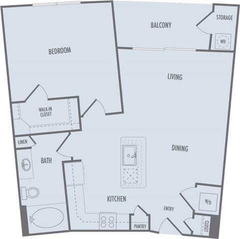A5 Floor Plan at Domain at CityCentre Apartments in Houston, Texas
