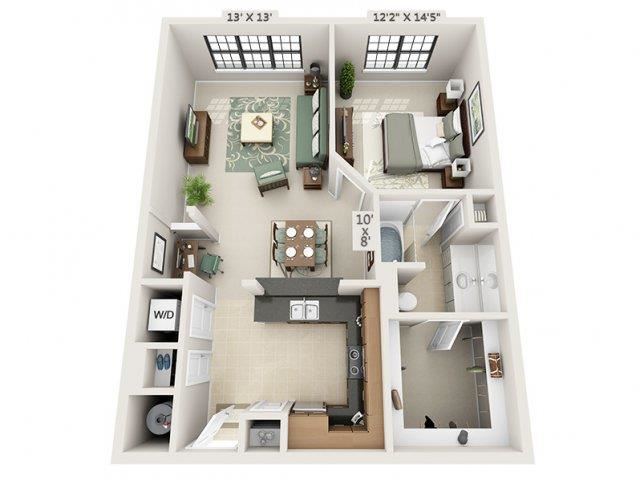 A7- Almafi Floor Plan at The Circle at Hermann Park in Houston, Texas