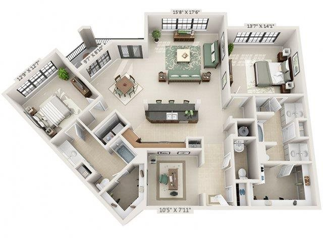 B2 - Amalfi Floor Plan 25