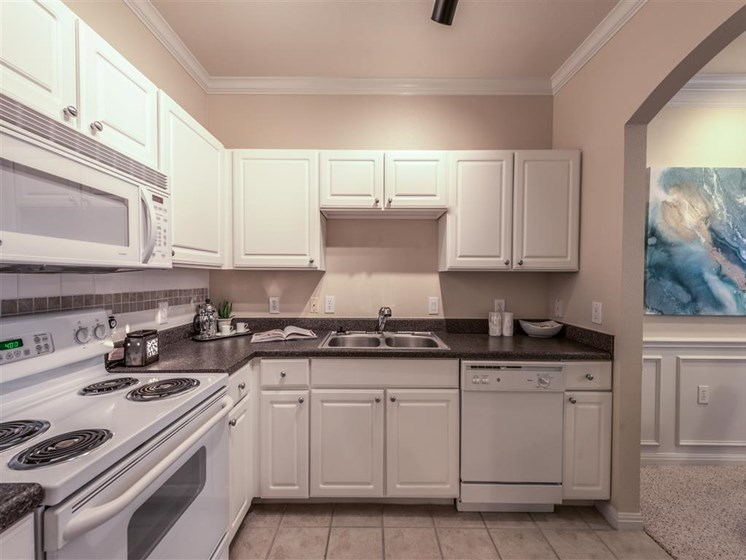 Classic Kitchen Design at The Circle at Hermann Park in Houston, Texas