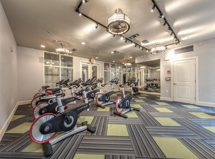Cycling Room at The Circle at Hermann Park in Houston, Texas