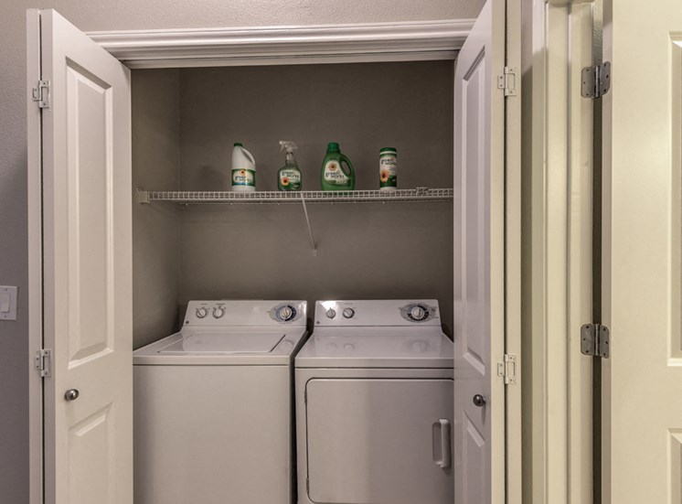 In-Unit Washer and Dryer at The Circle at Hermann Park in Houston, Texas
