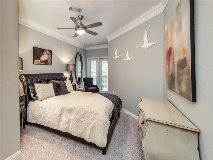 Master Bedroom Decor at The Circle at Hermann Park in Houston, Texas