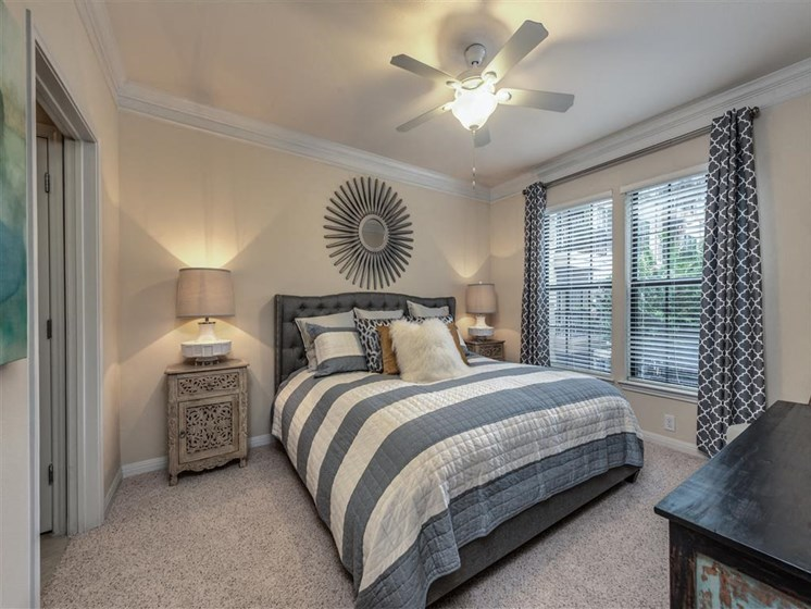 Master Bedroom at The Circle at Hermann Park in Houston, Texas