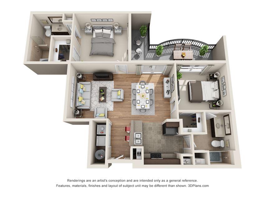 River Oaks Floor Plan at La Maison River Oaks Apartments in Houston, Texas