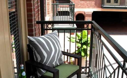 Balcony at La Maison River Oaks Apartments in Houston, Texas