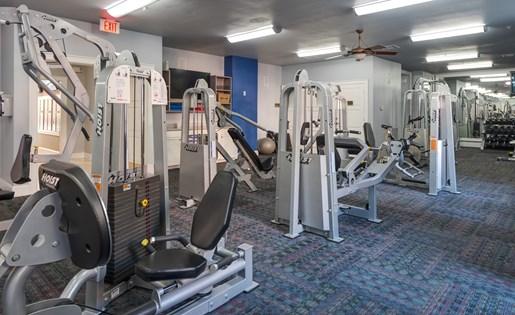 Fitness Center Equipment at La Maison River Oaks Apartments in Houston, Texas