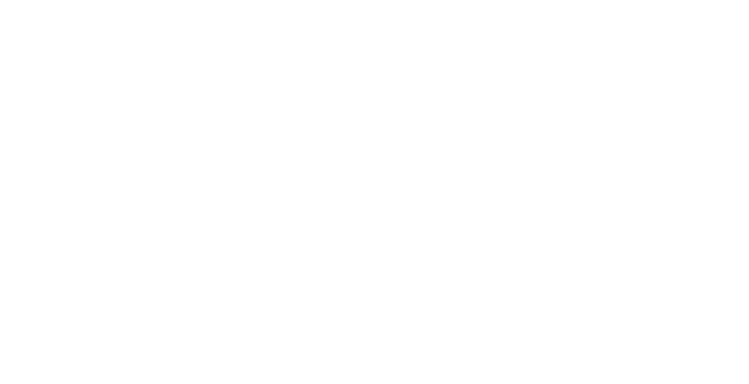 La Maison White Logo Design at La Maison River Oaks Apartments in Houston, Texas