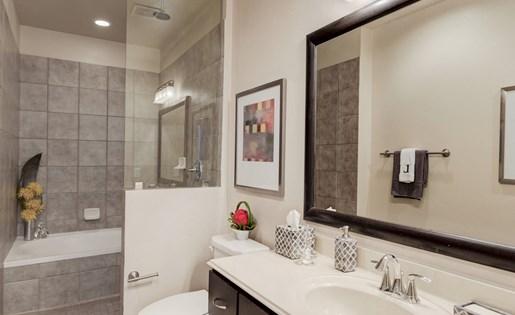 Luxurious Bathroom at La Maison River Oaks Apartments in Houston, Texas