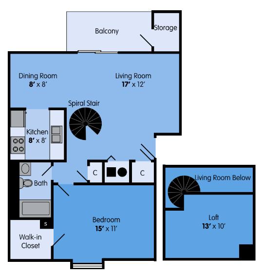 The Ash Loft Floor Plan 2