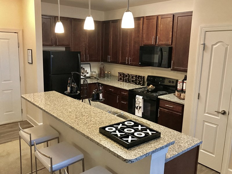 Granite Countertops at Abberly at Southpoint Apartment Homes by HHHunt, Virginia, 22407