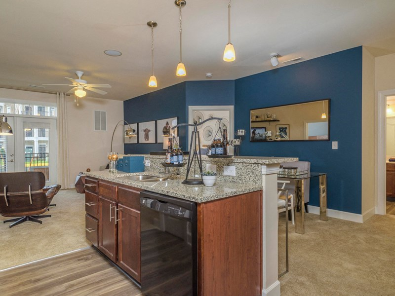 Island Designed Kitchens at Abberly at Southpoint Apartment Homes by HHHunt, Fredericksburg, VA, 22407