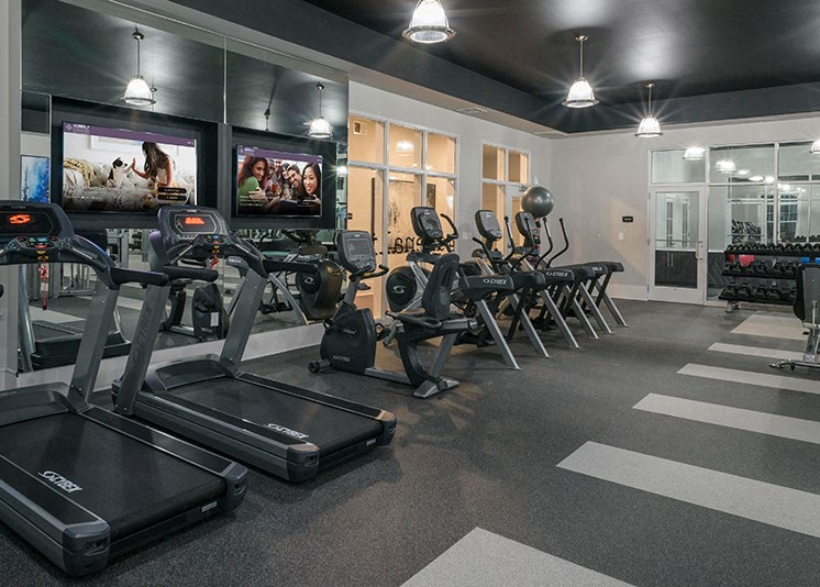 Adrenaline Cardio and Strength Studio at Abberly at Southpoint Apartment Homes by HHHunt, Virginia