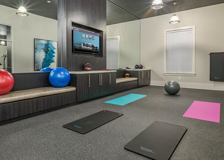 Modern Fitness Center at Abberly at Southpoint Apartment Homes, Fredericksburg, VA, 22407