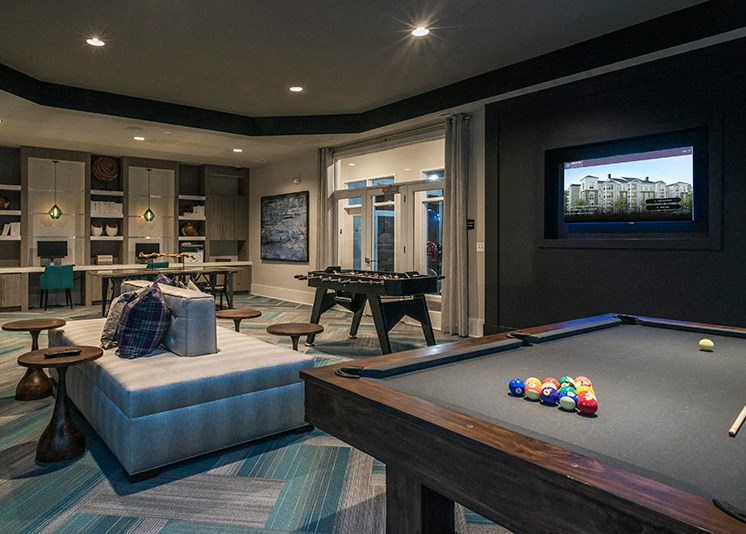Billiards Table at Abberly at Southpoint Apartment Homes by HHHunt, Fredericksburg