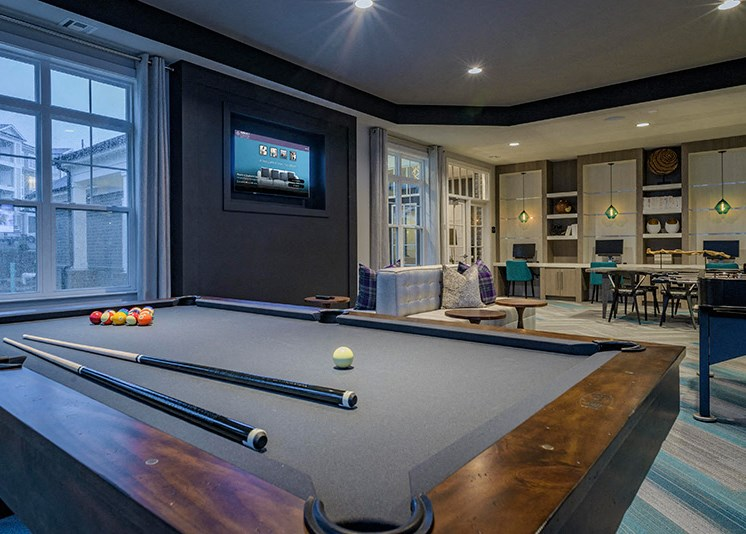 Indoor Games at Abberly at Southpoint Apartment Homes by HHHunt, Virginia, 22407