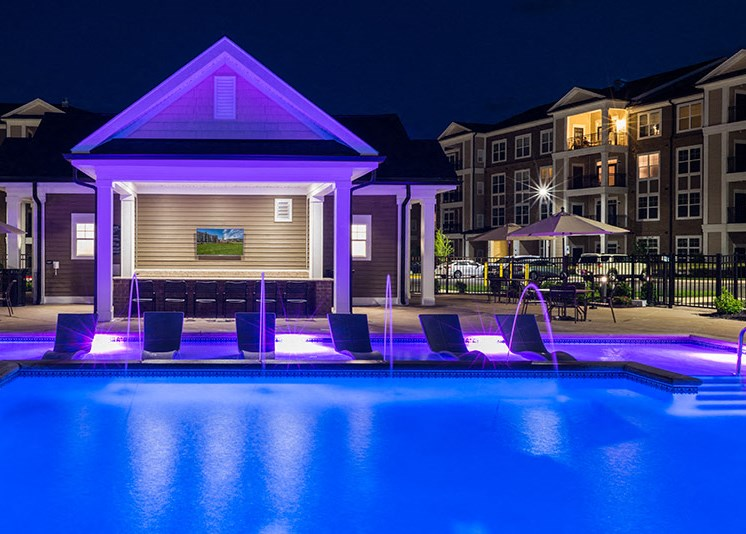 Crystal Clear Swimming Pool at Abberly at Southpoint Apartment Homes by HHHunt, Fredericksburg, 22407