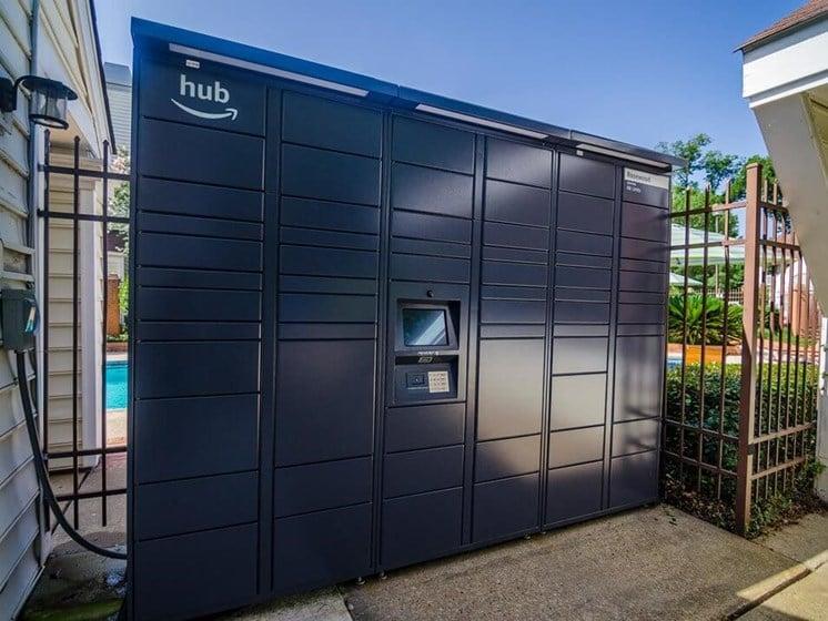 Secure amazon locker at Rosewood Apartments