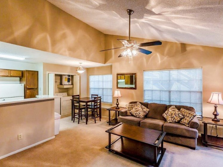 Living room at Rosewood Apartments