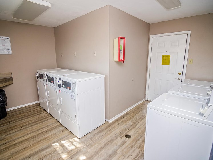 Laundry room at Rosewood Apartments in Alexandria, LA