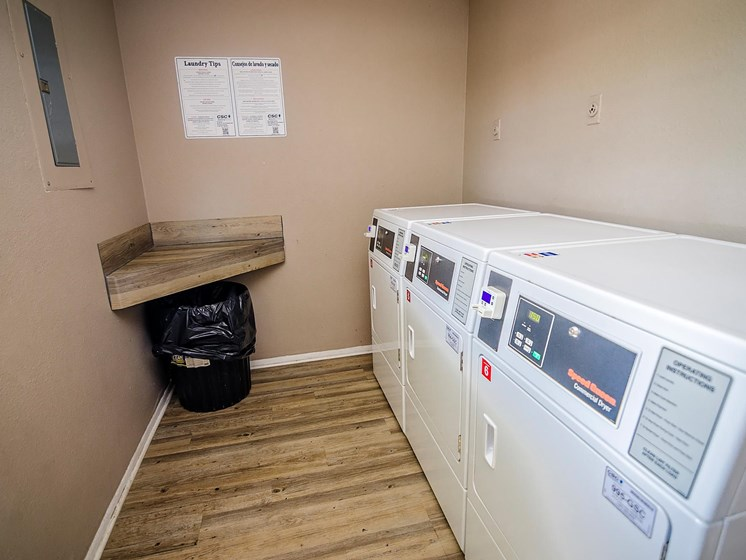 On-site laundry center at Rosewood Apartments in Alexandria, LA