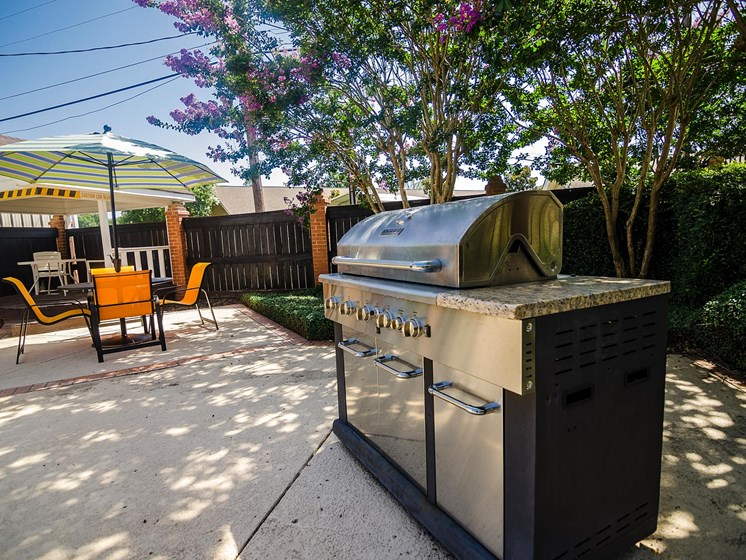 Built-In Gas Grills at Rosewood Apartments in Alexandria, LA