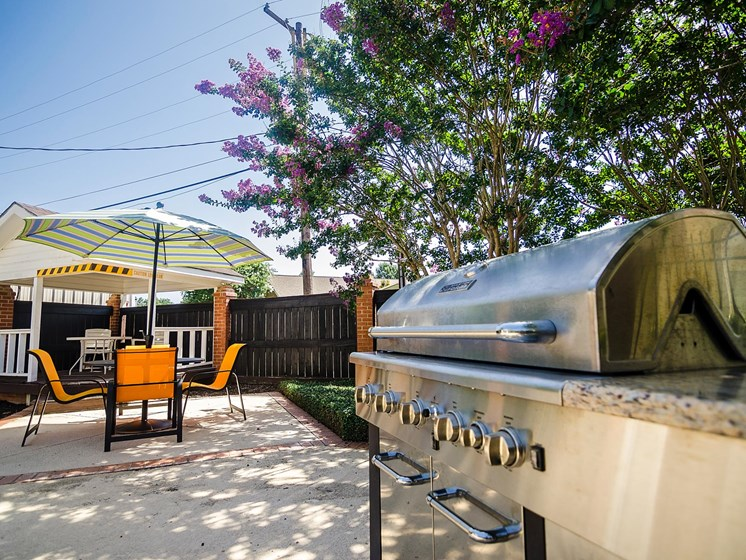 Grill area at Rosewood Apartments in Alexandria, LA