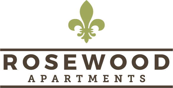 Rosewood logo at Rosewood Apartments in Alexandria, LA.