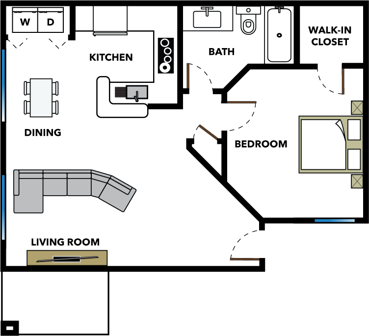 The Bungalow Floor Plan 1