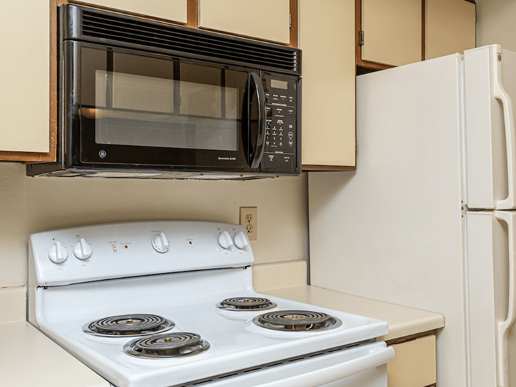 kitchen with appliances for rent